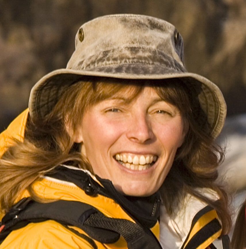 Portrait of woman in outdoor gear - Joanie McGuffin