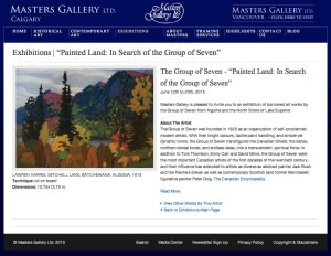 Painted land Masters Gallery exhibition June 2015