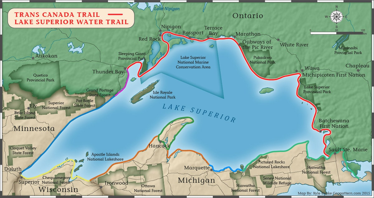 Lake superior water trail the mcguffins lake superior water trail map freerunsca Choice Image