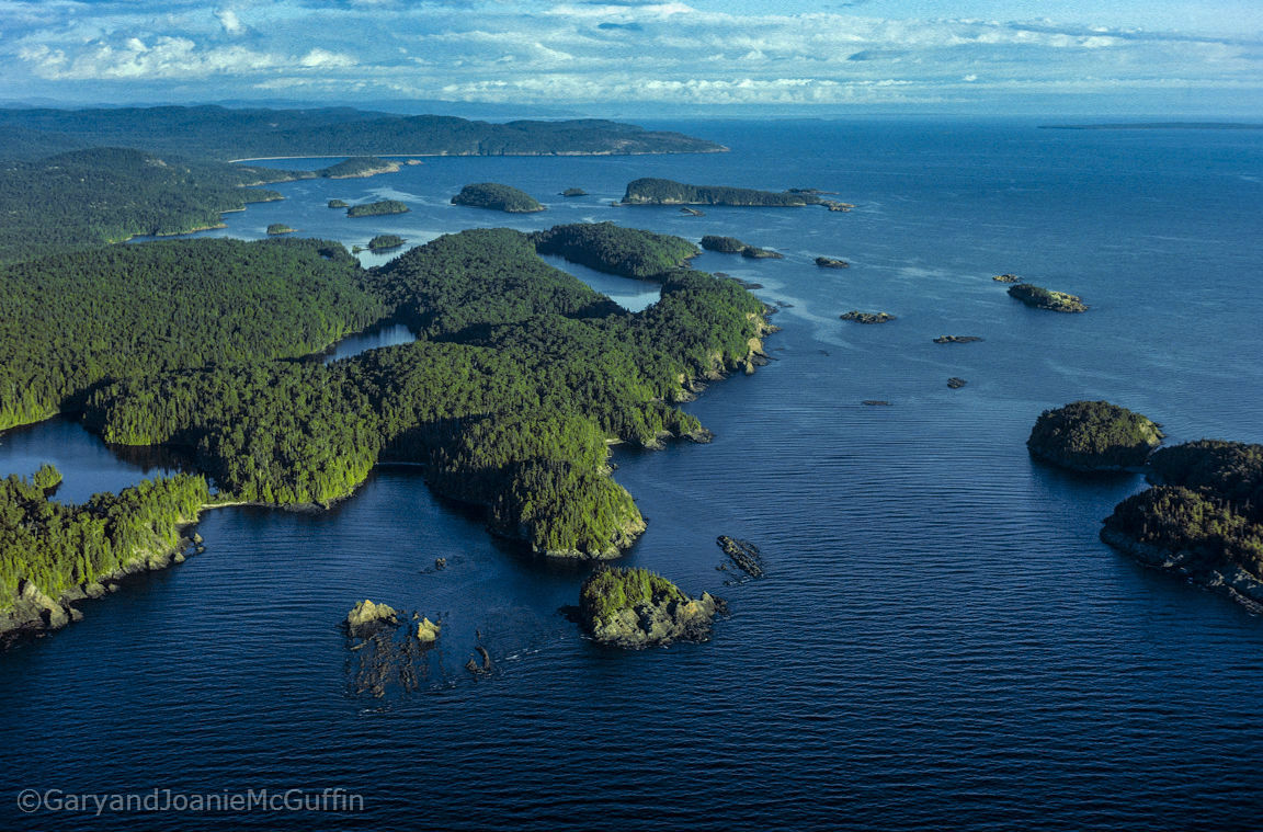 Arial shot of the Gargantua islands