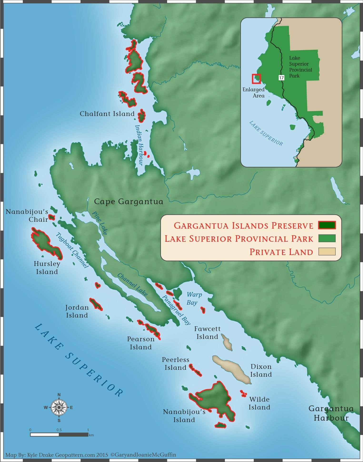 Gargantua Preserve Map