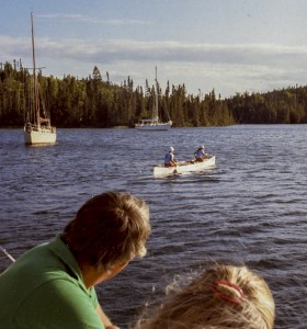 Our younger selves paddling across Canada in 1983