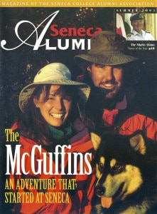 The McGuffins on the cover of Seneca Alumni
