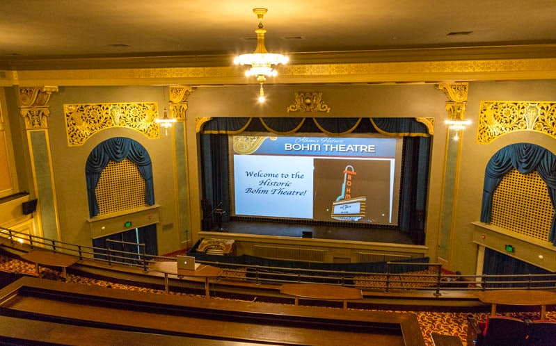 The film Painted Land premiered in the USA at Albion, Michigan's recently renovated historic Bohm Theatre April 6th.