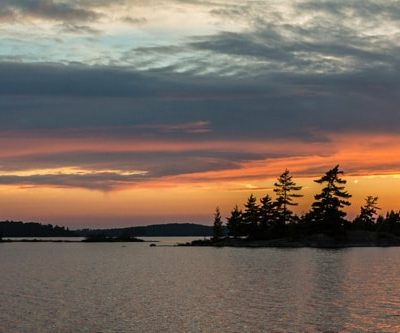 Sunset Pickerel Lake, Quetico Park